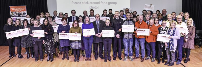 An image of the Safer Communities Fund Awards Event for grant round 17