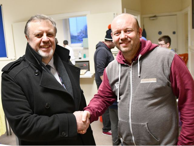 Image of PCC Mark Burns-Williamson with John Myers, Primetime Bradford Project Manager